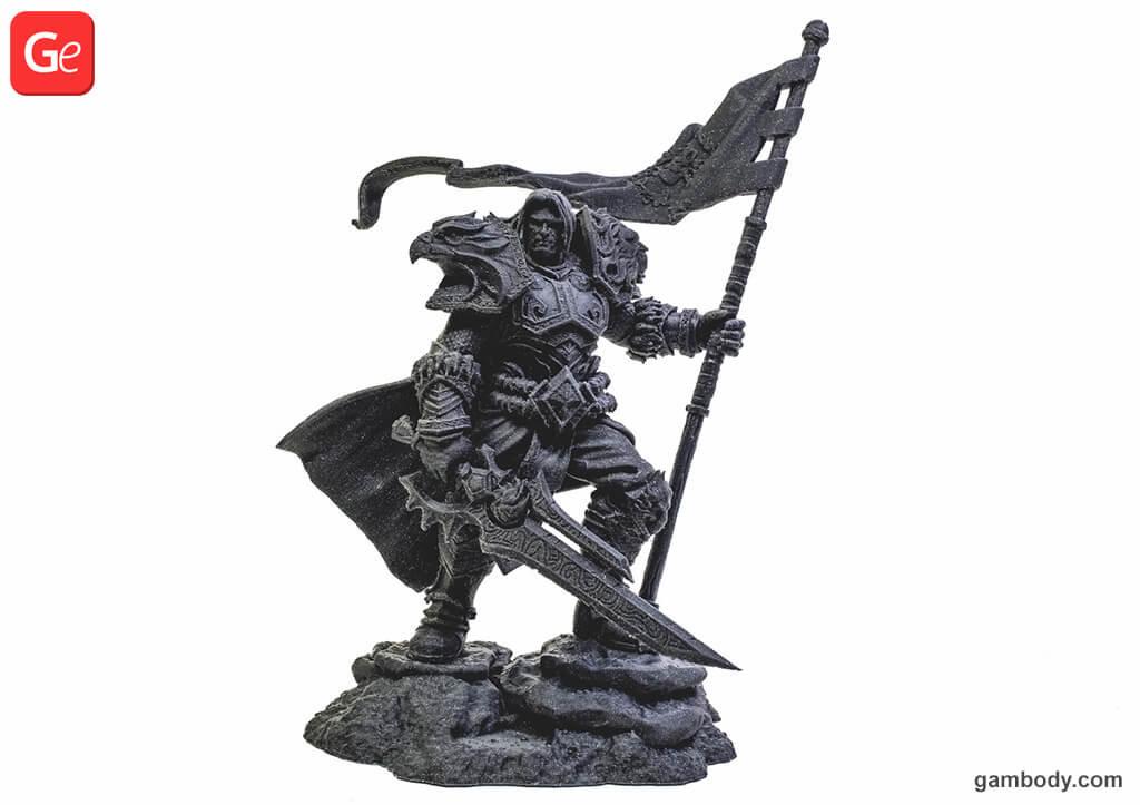 King Varian Wrynn 3D model trending print