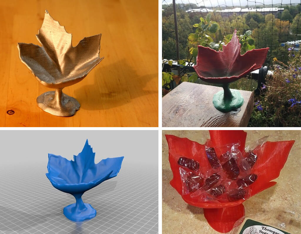 Maple leaf candy dish 3D printing STL