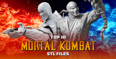 Top 10 Mortal Kombat STL files for 3D Printing Most Famous Game Models
