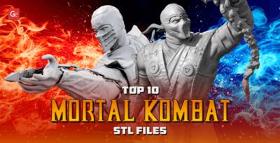 Top 10 Mortal Kombat STL files for 3D Printing Most Famous Game Models