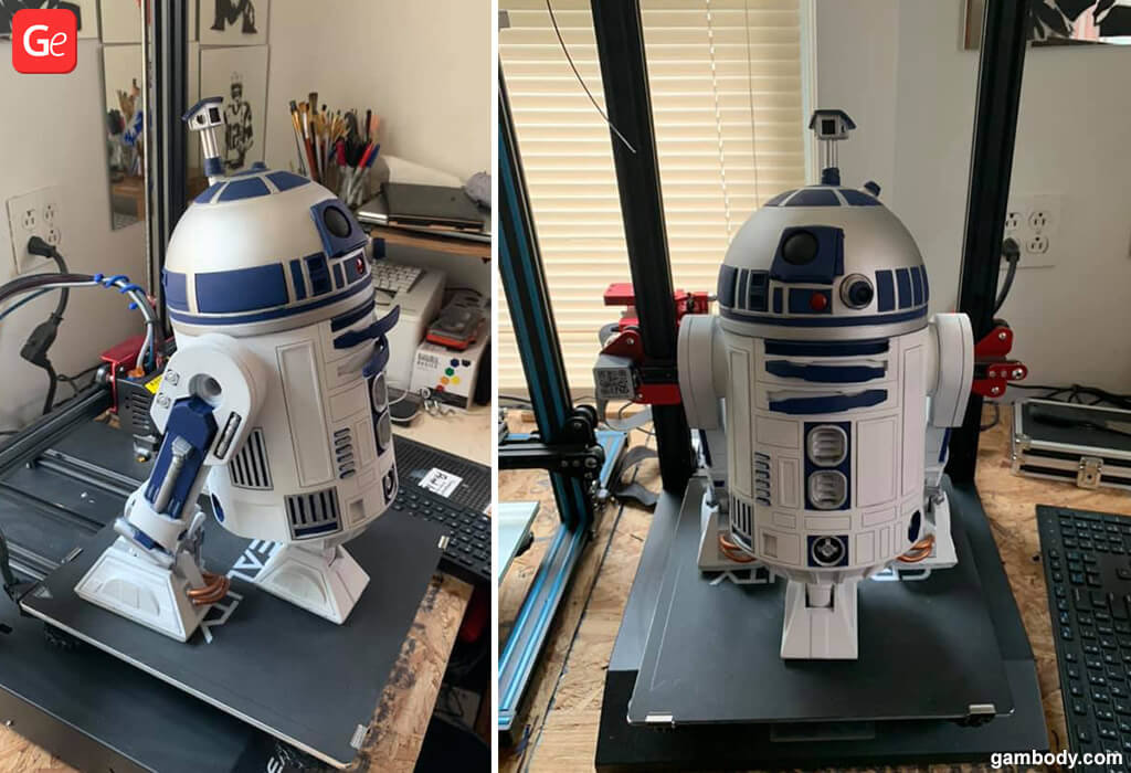R2D2 toy you can 3D print