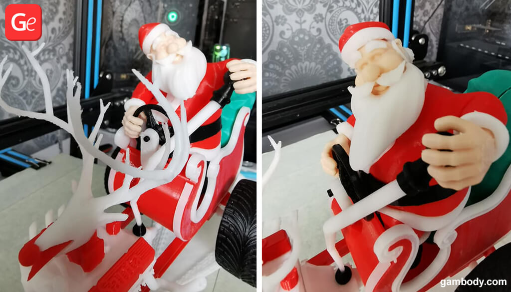 Santa Claus 3D printing toy for Christmas 2019