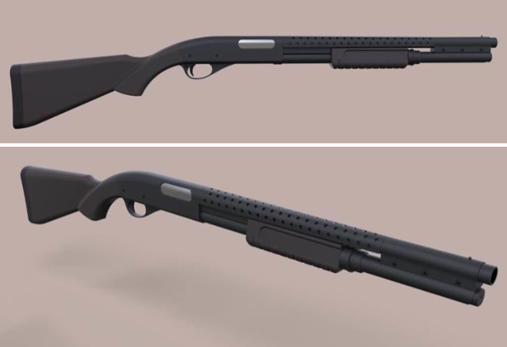 Terminator gun Remington 870 model to 3D print