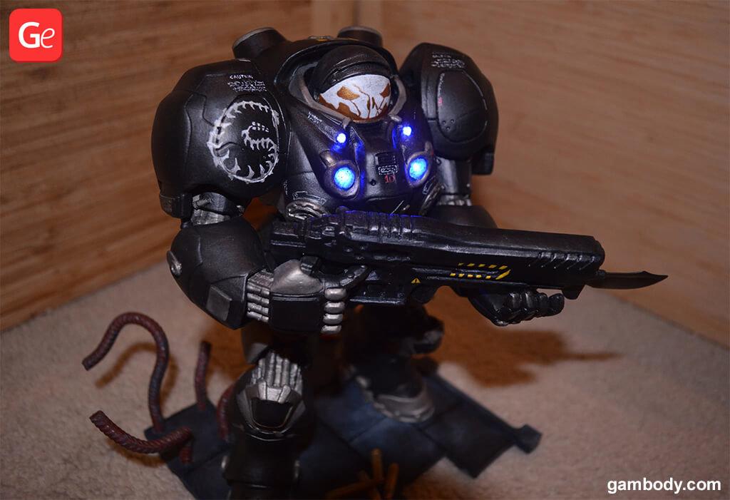 Terran Marine action figure with lights