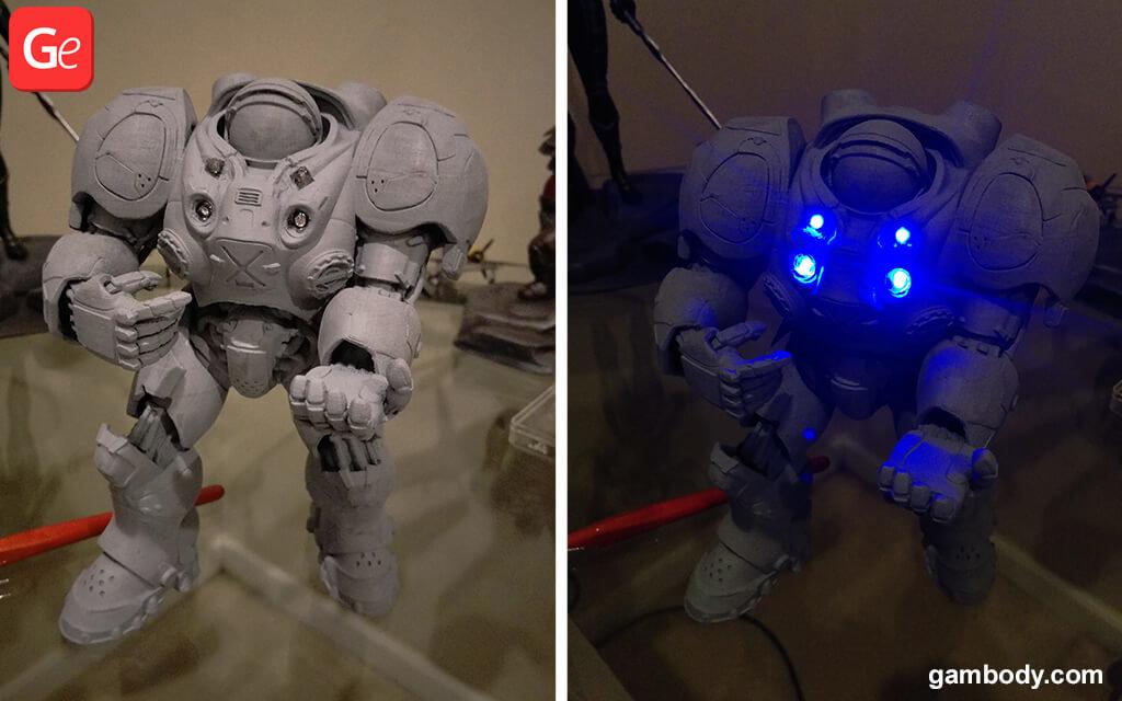 StarCraft 2 Terran Marine 3D print after primer
