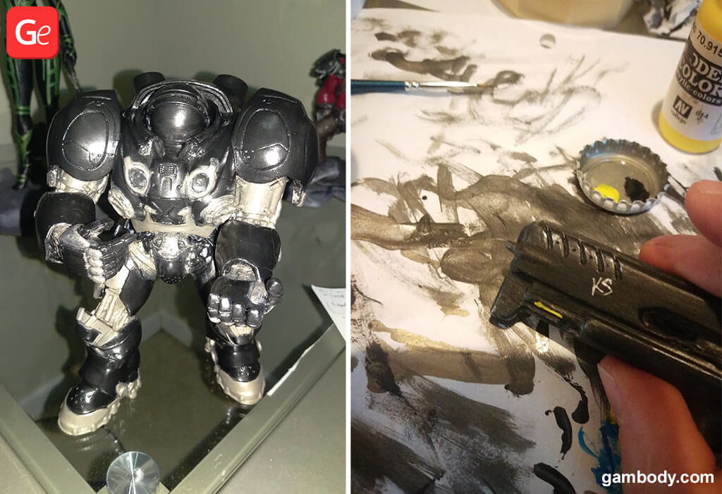 How to paint Terran Marine 3D printed figure and weapon