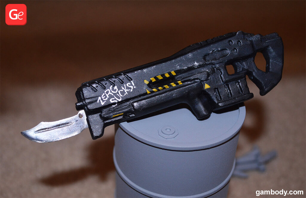 Terran Marine weapon 3D printed model