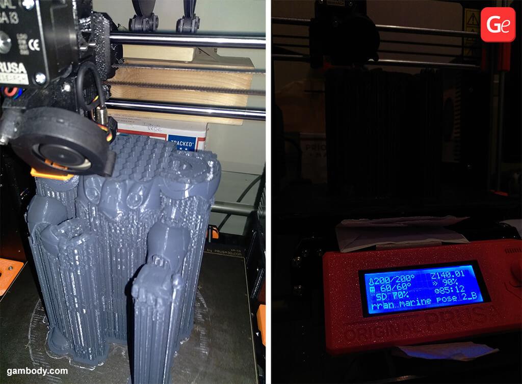 Terran Marine figure 3D printing process