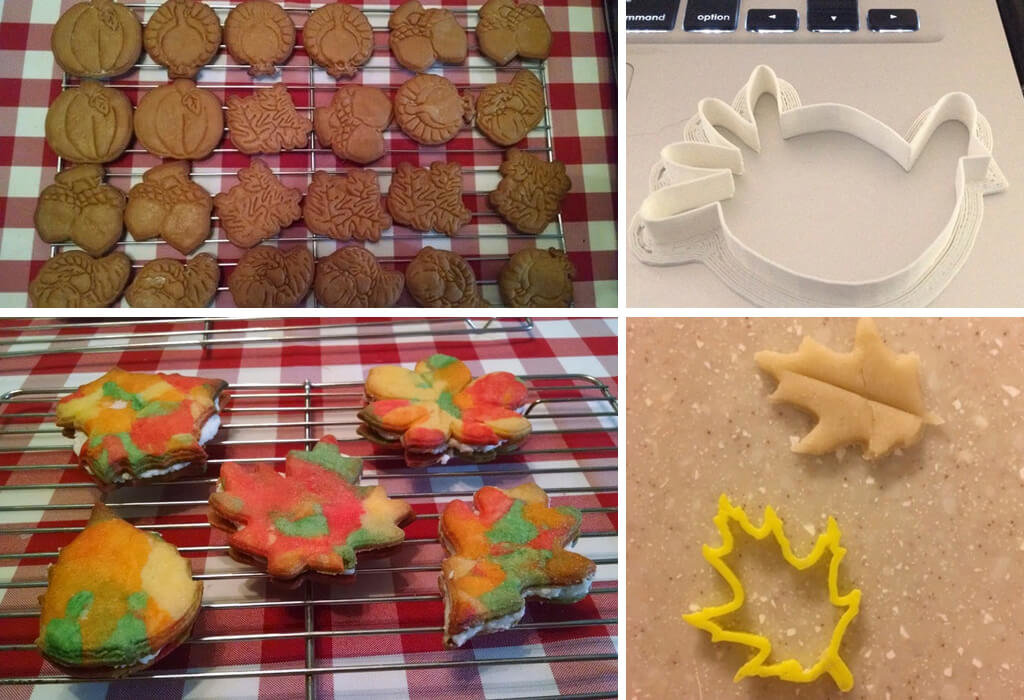 Thanksgiving cookie cutters 3D printed models