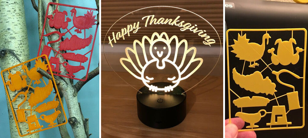Thanksgiving Day symbols STL files to 3D print