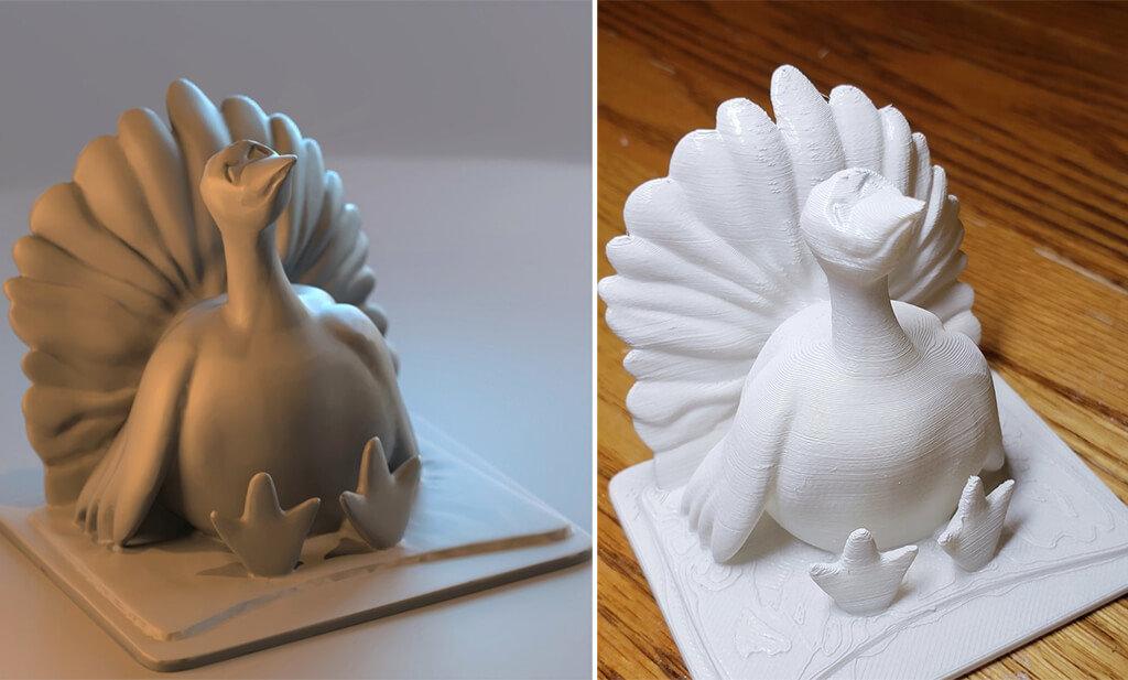 Turkey 3D print with STL files