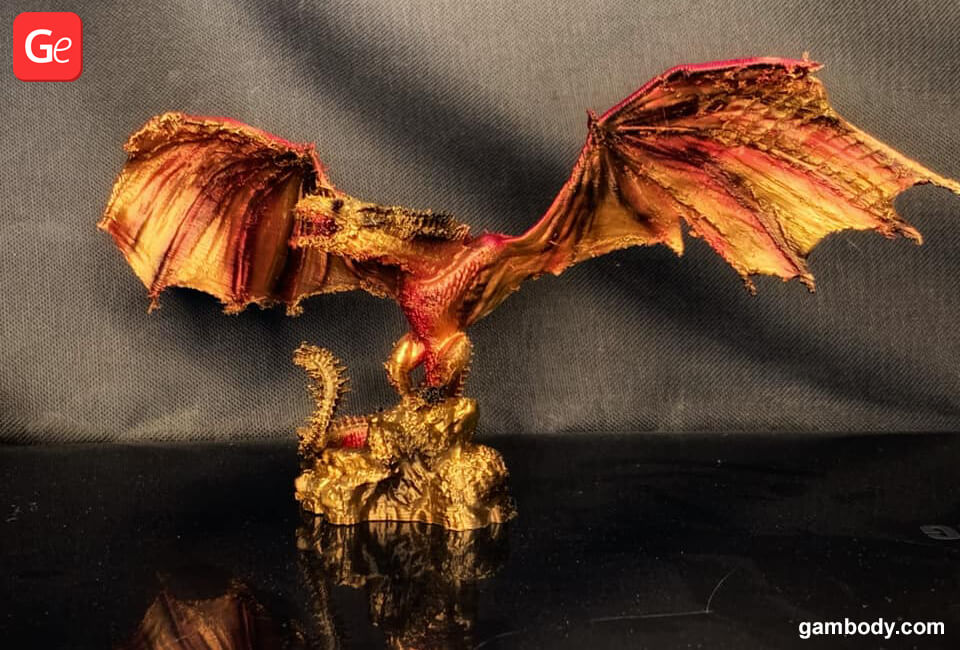 Viserion dragon 3D printed toy