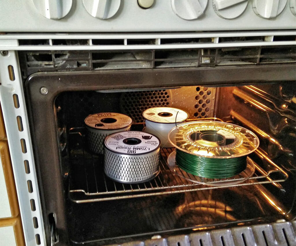 How to dry 3D printer filament in oven