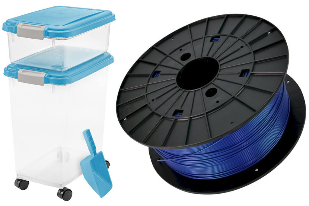 PLA filament storage box