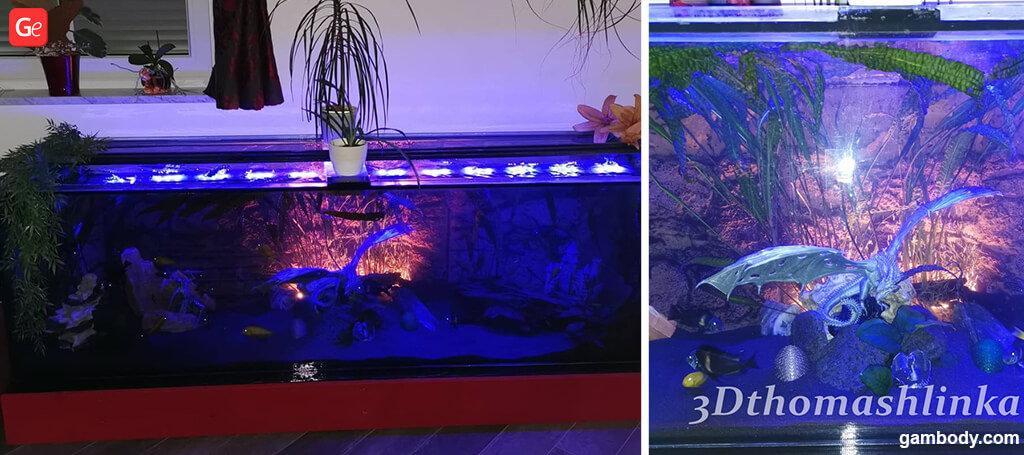 3D printed aquarium decor