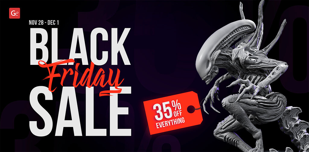 Black Friday sale on Gambody 3D printing models in 2019