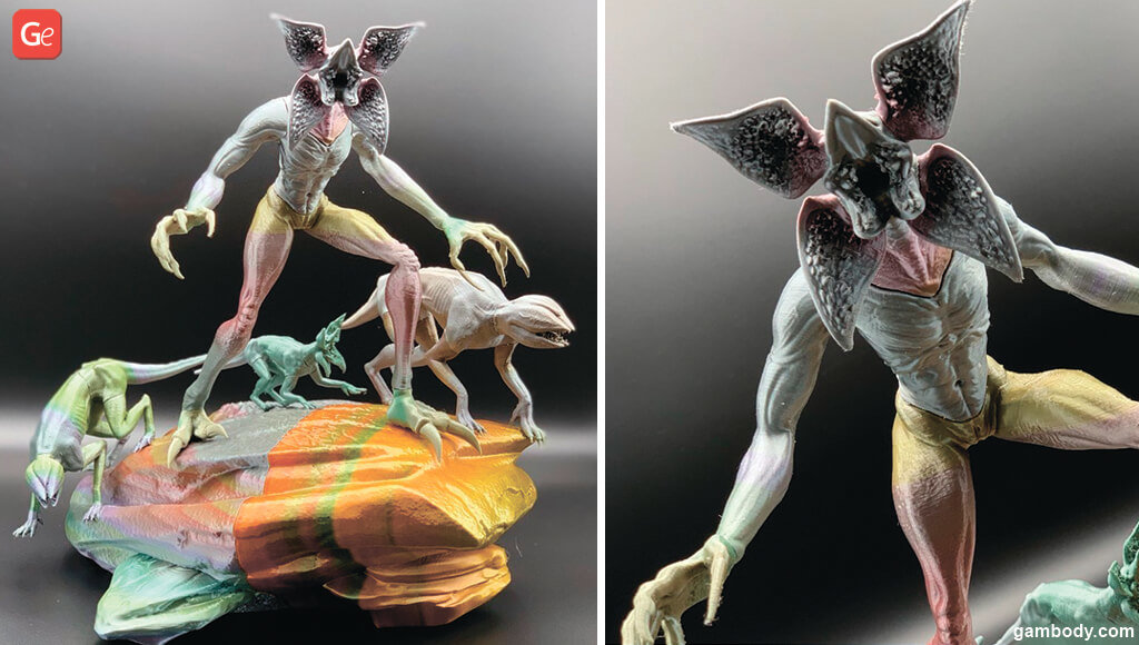 Demogorgon experiments with rainbow and chameleon filament