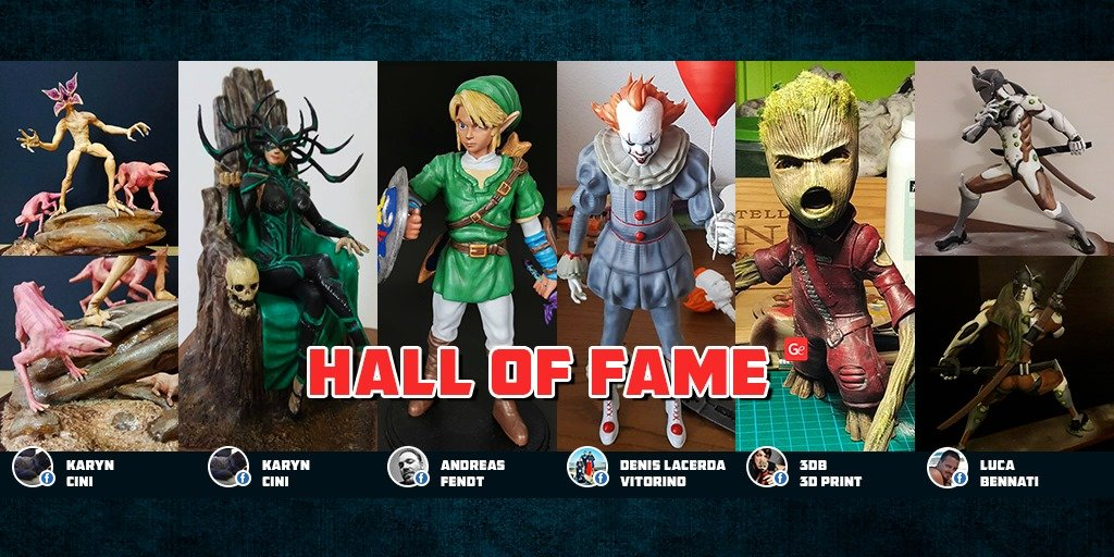Trending models to 3D print winner of Gambody Hall of Fame 2019