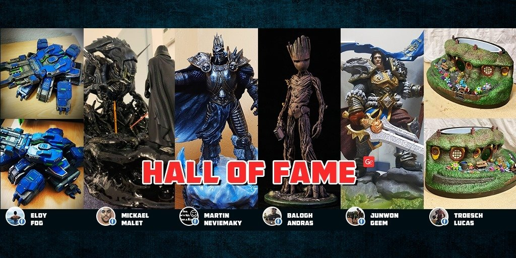 Trending figurines to 3D print Hall of Fame winners
