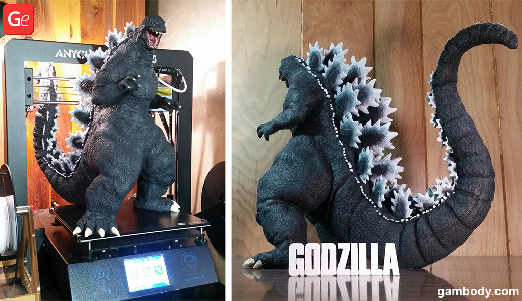 Heisei Godzilla trending STL files of October