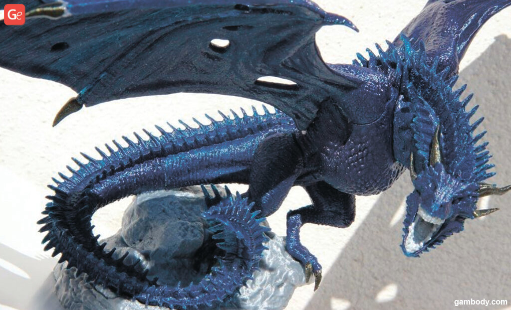 Viserion Ice dragon STL files