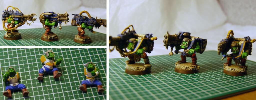 Warhammer 40K Orks models