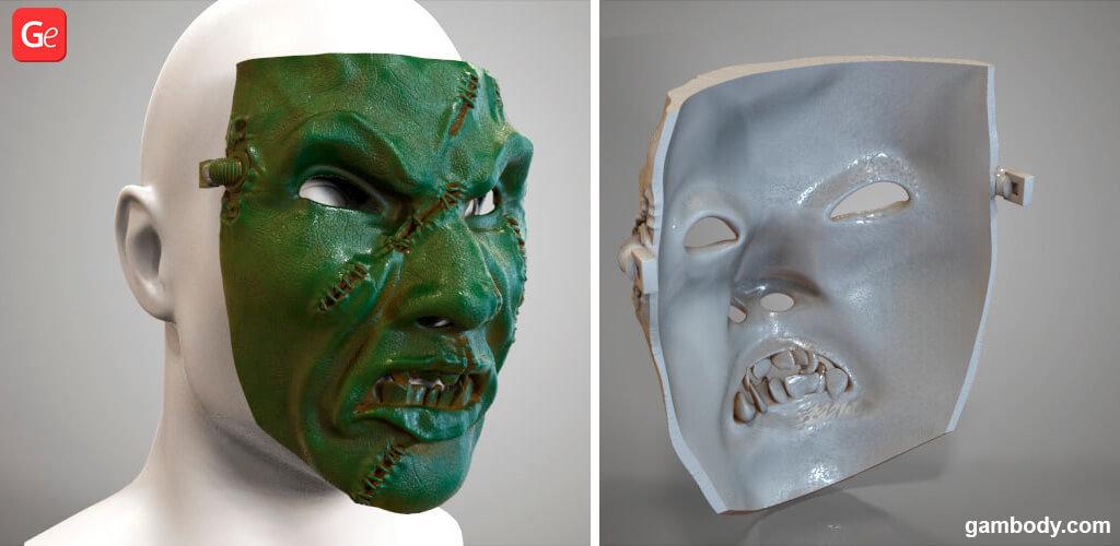 Chaos Space Marine mask 3D printing files STL