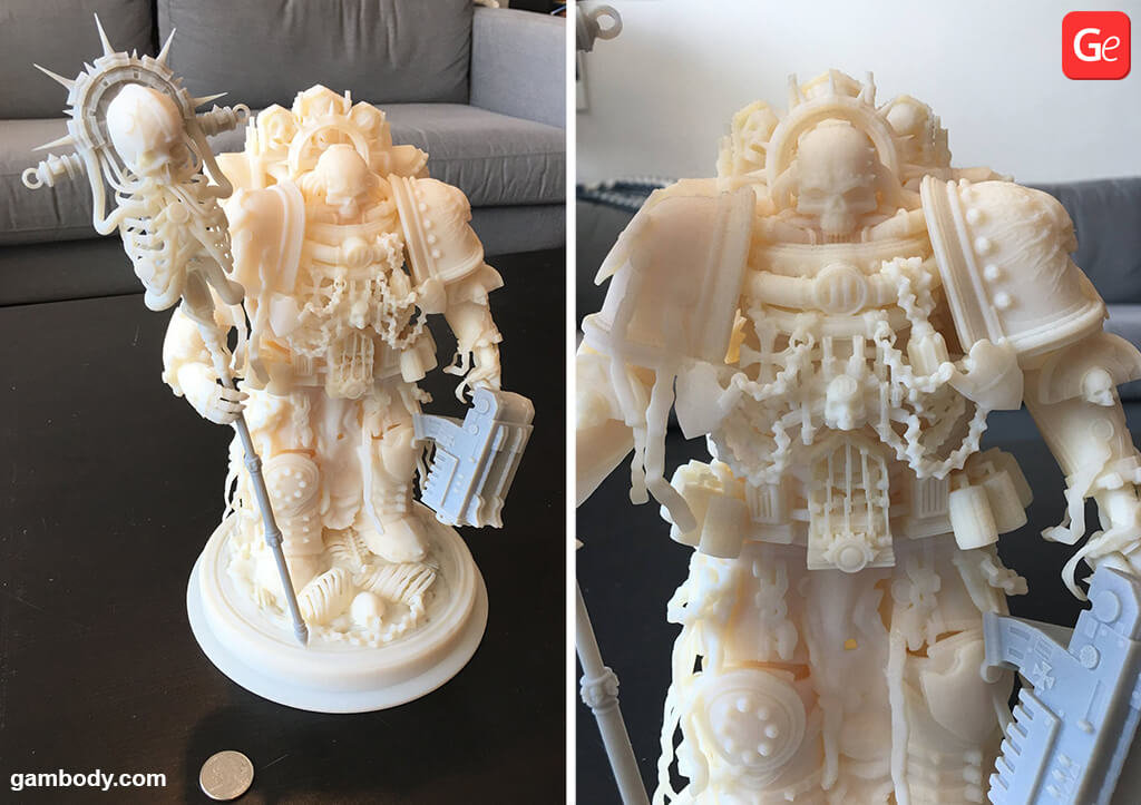 Space Marine Chaplain 3D printing STL files