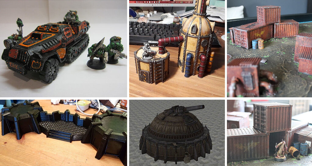 Warhammer 40K scenery 3D printed models