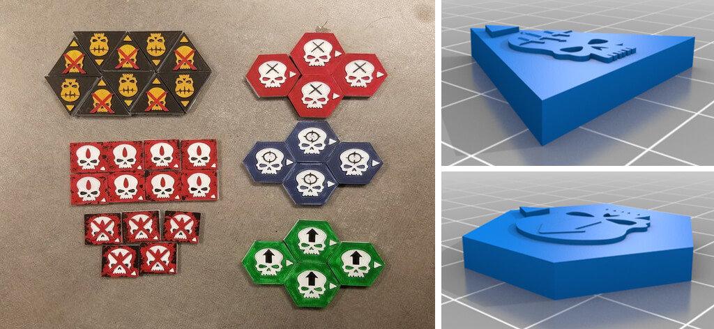 Warhammer 40000 token STL 3D printing files