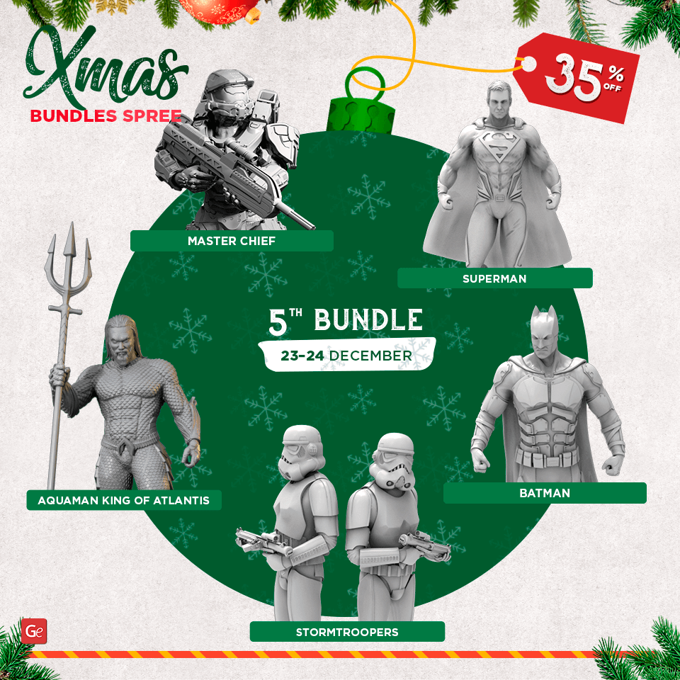 Discount for Xmas 2019 models to 3D print