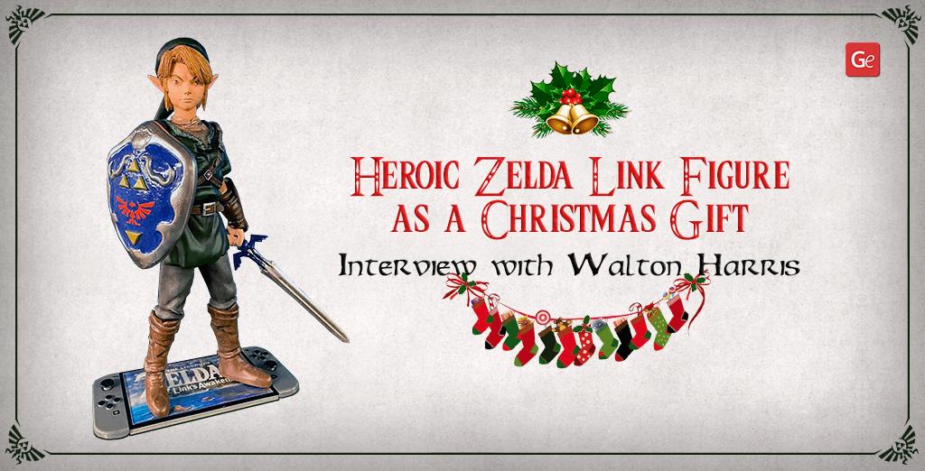 Zelda Link figure 3D printed