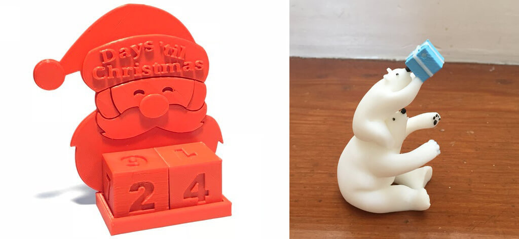 Advent calendar 3D printing STL files and toy ideas