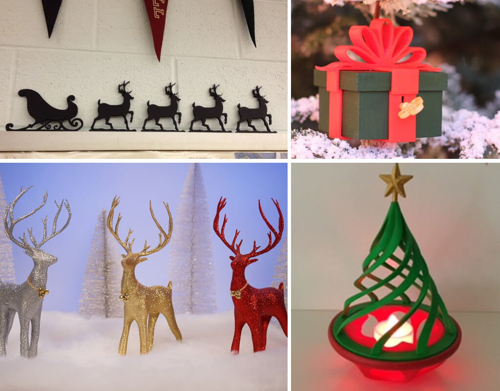 Xmas décor DIY 3D printing ideas
