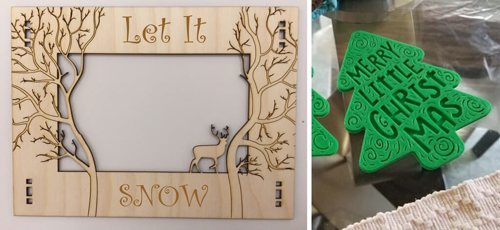 Winter frame and holiday coasters 3D printing ideas and trends 2020