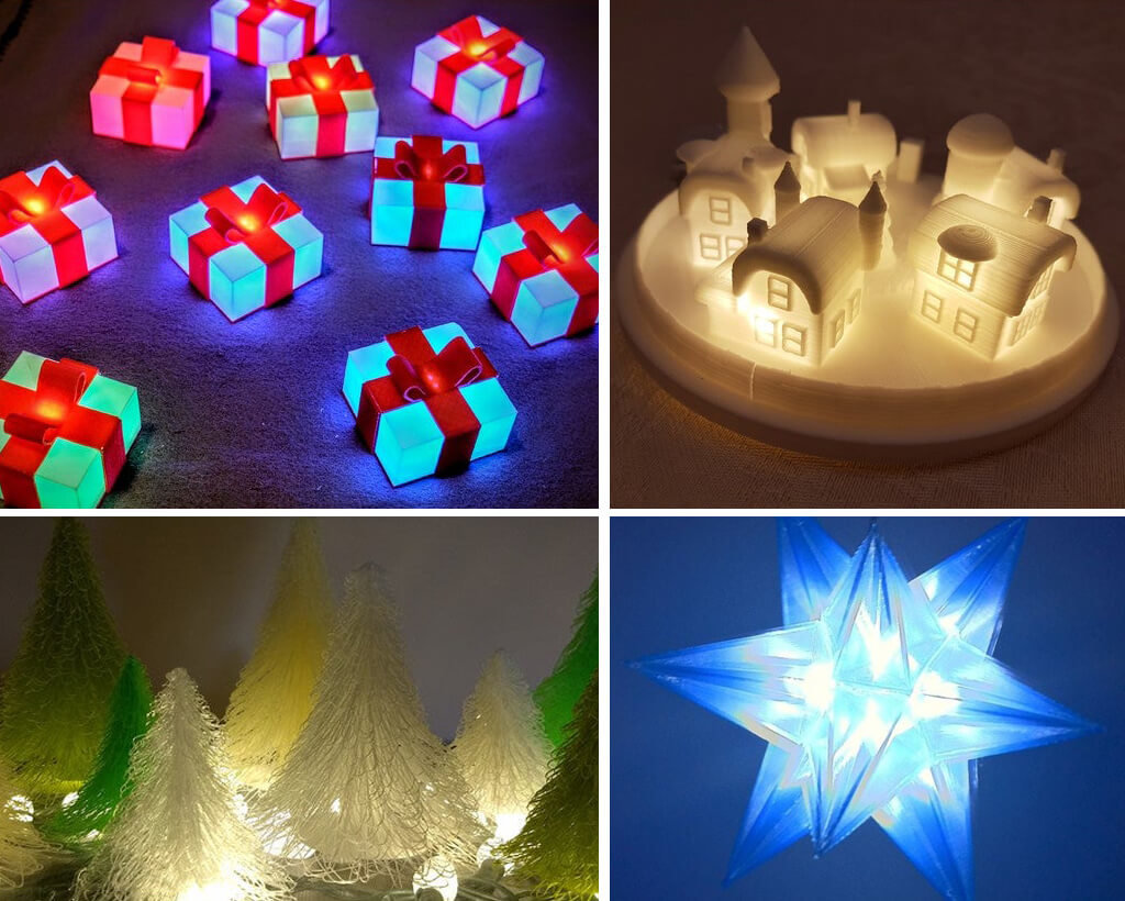 STL Christmas lights 3D printing ideas