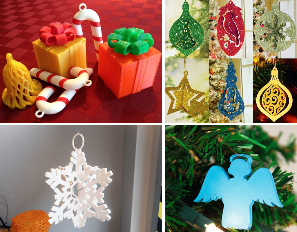 3D printing Christmas ornaments STL files