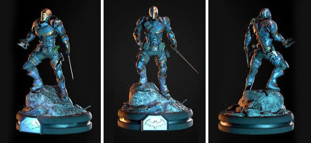 DeathStroke DC Comics villains 3D print files