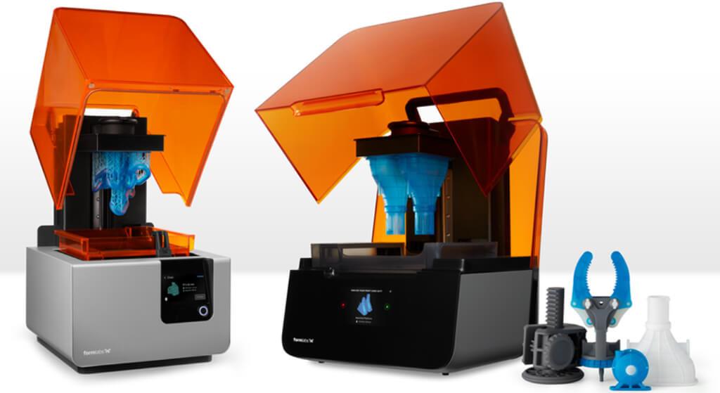 SLA types of 3D printing machines by Formlabs
