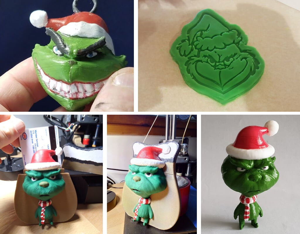 Grinch decor ideas STL files