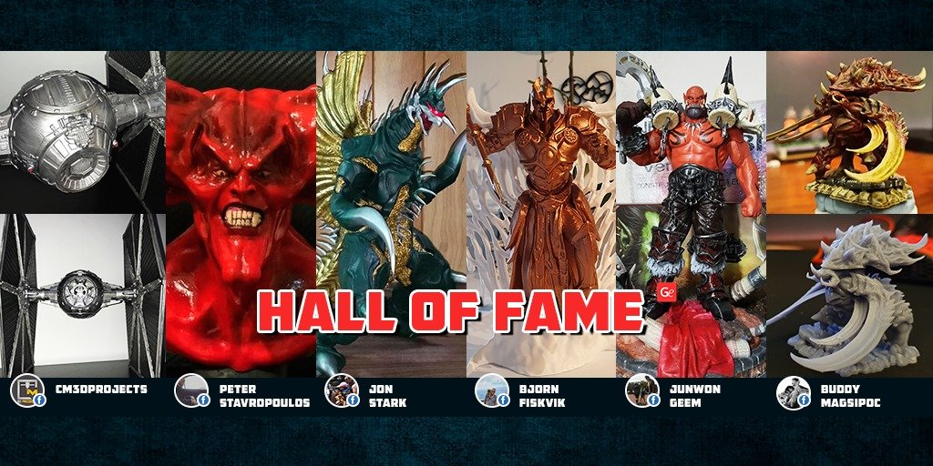 Trending 3D printing models from Hall of Fame November 2019