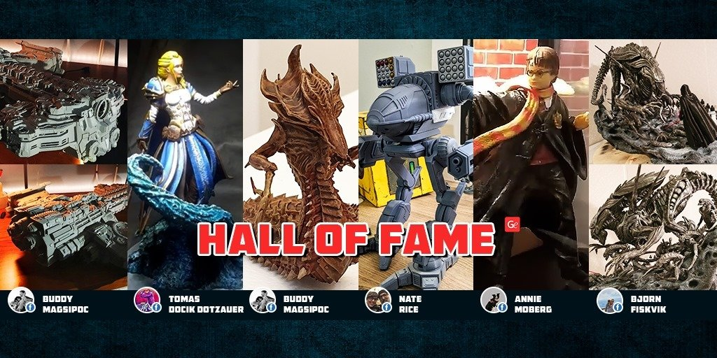 Trending and popular 3D printing models from Hall of Fame November 2019