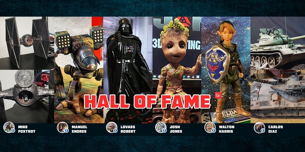 Popular 3D printing models from Hall of Fame November 2019