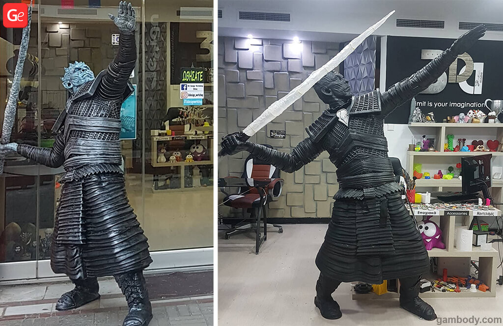 Life-size 3D printed model of Night King
