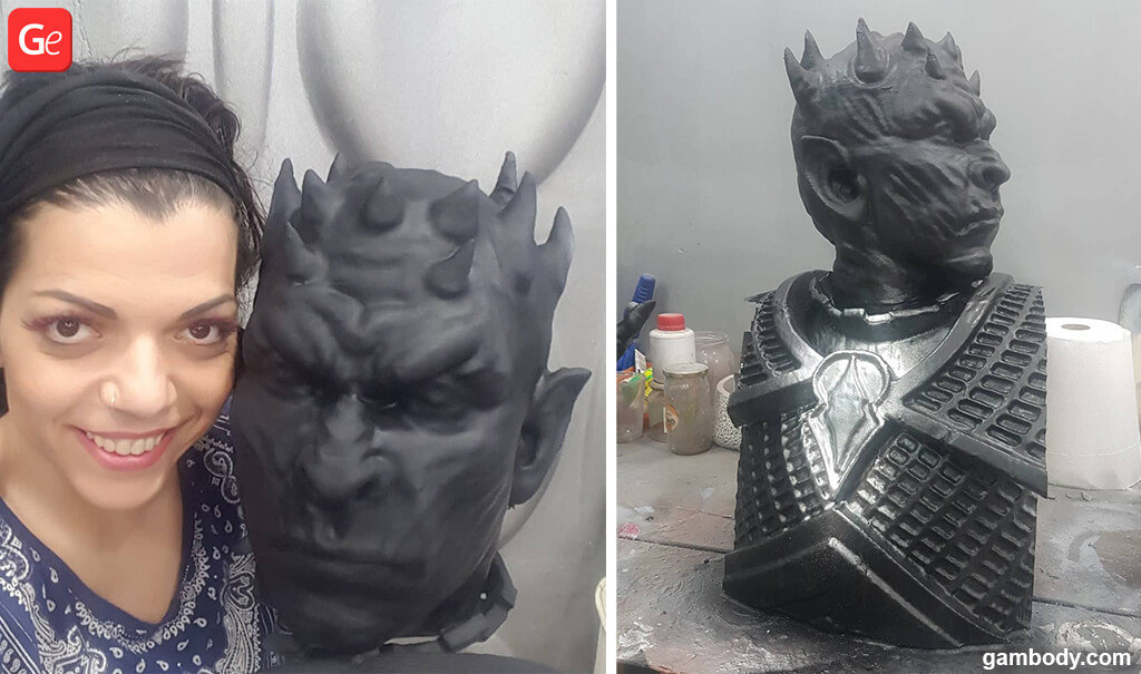 Giant Night King statue from Game of Thrones