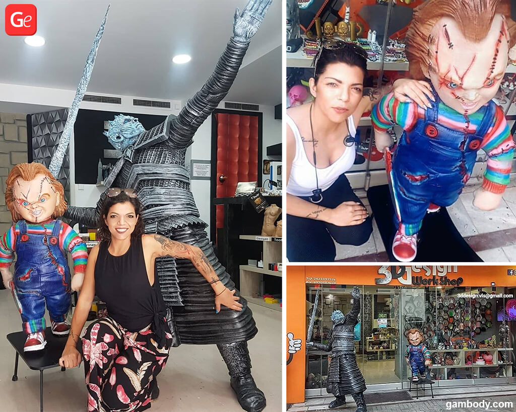 Fun things to do at home Life-size Night King and Chucky doll 3D printed models