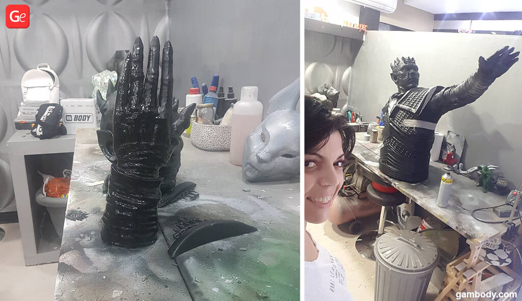 Night King GoT giant statue 3D printed parts