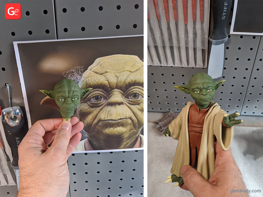 Master Yoda from Star Wars trending 3D printing models STLs of November 2019