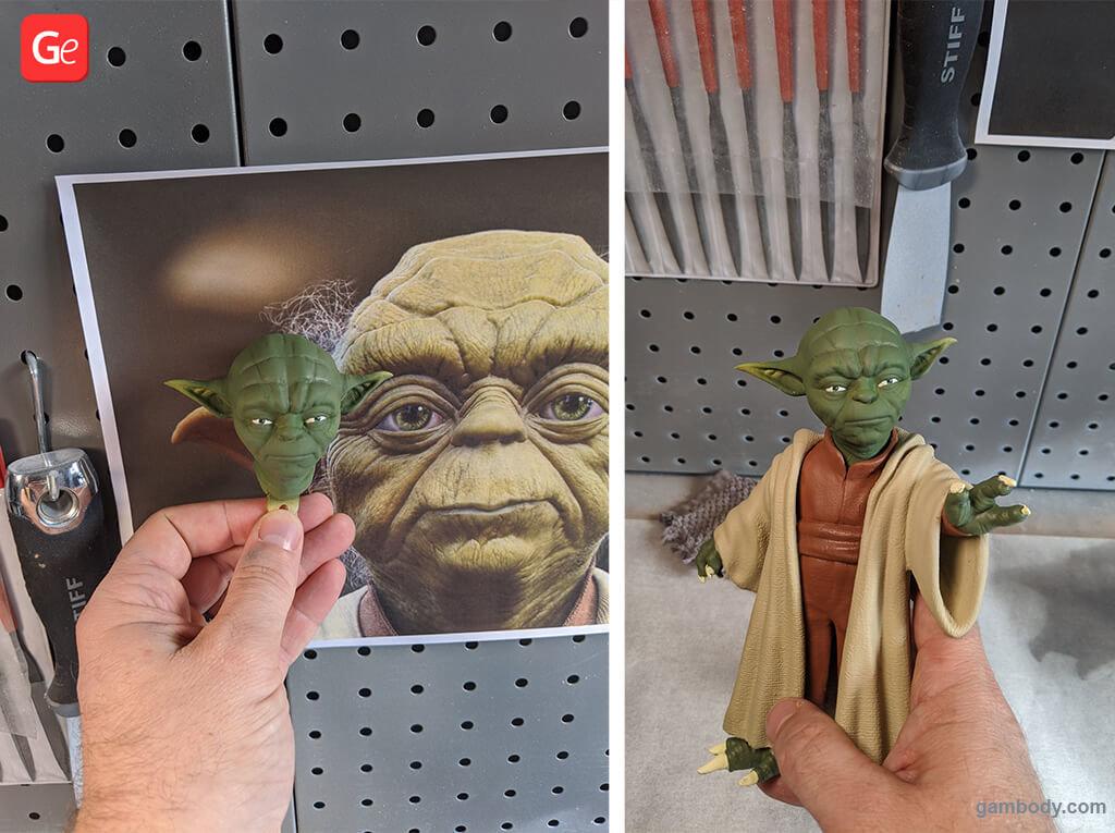 Master Yoda from Star Wars trending 3D printing models STLs of November 2019