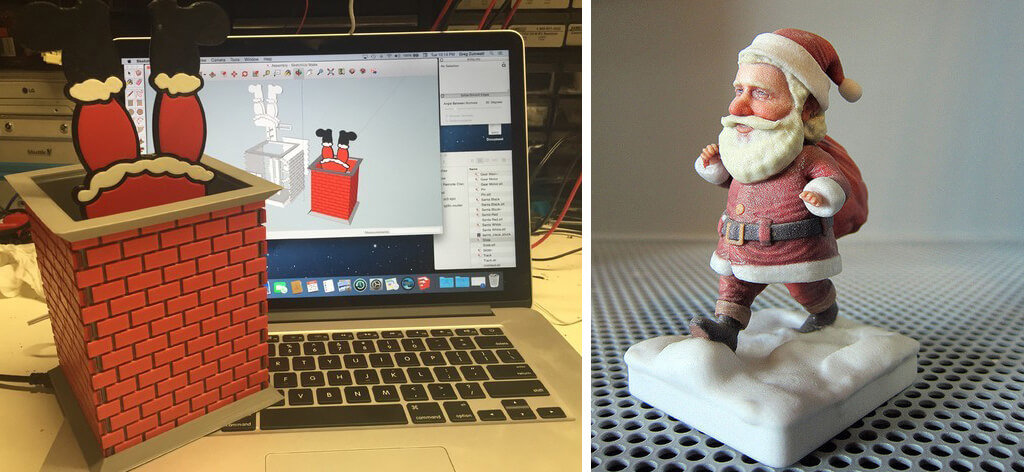 Secret Santa 3D print models for Christmas